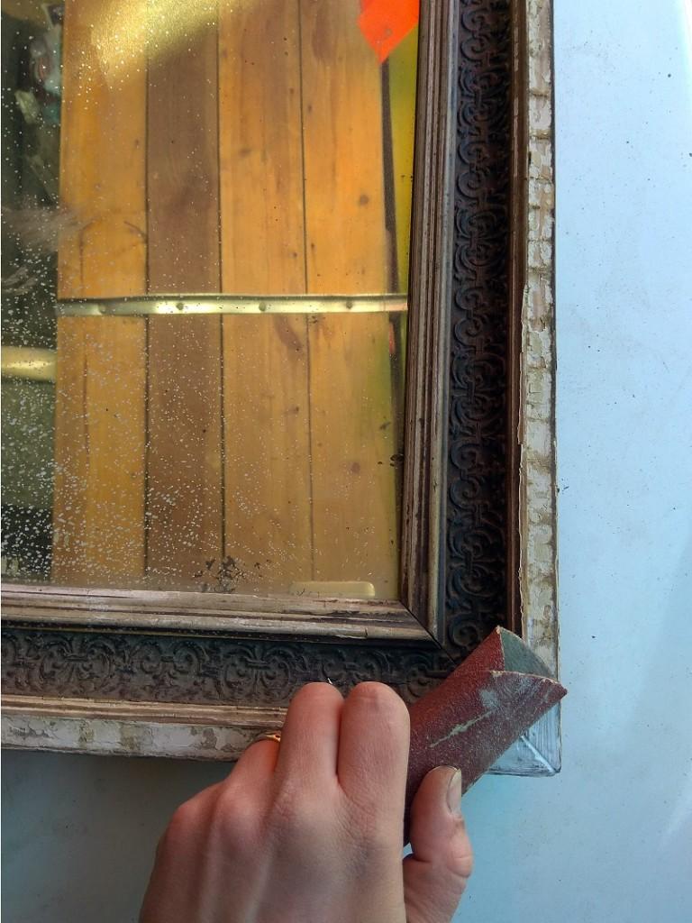 Реставрация деревянной рамы зеркала